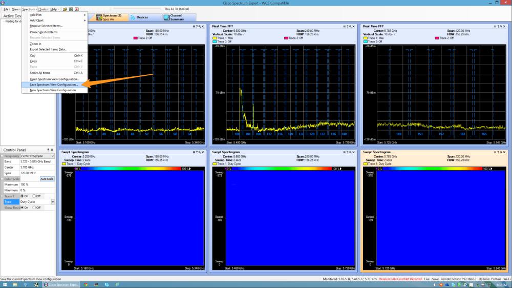 14 CSE save Spectrum View Configuration